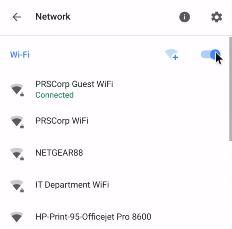 Turn off Wi-Fi