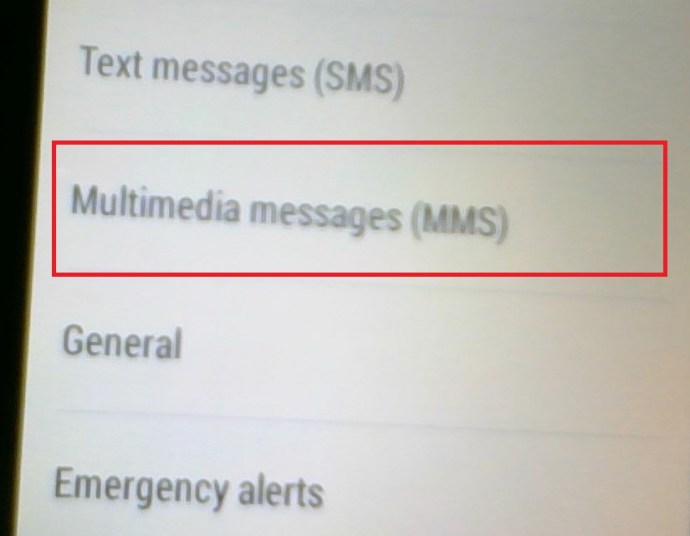 Android Messages Settings