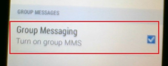 Android Group Messages option