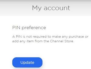 roku pin preference