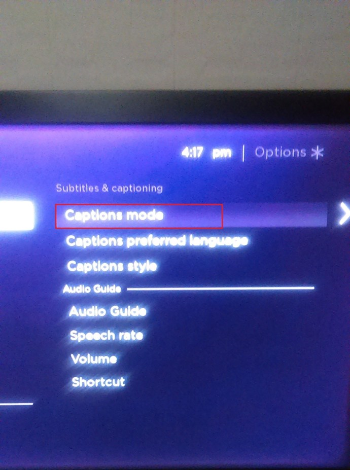 Another Roku settings option