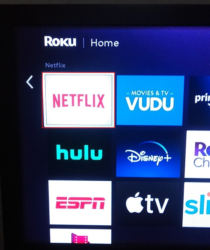 Roku Favorites page