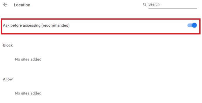 Ficha Ubicación de Chrome