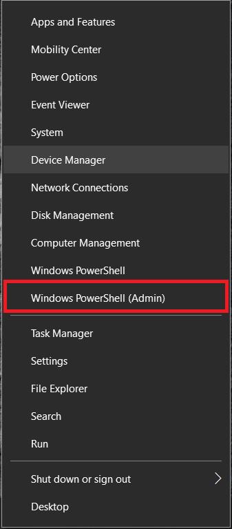 Windows 10 menu 2