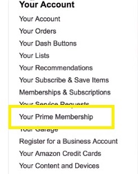 your prime membership