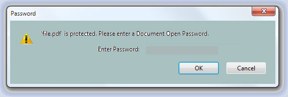 Enter PDF Password