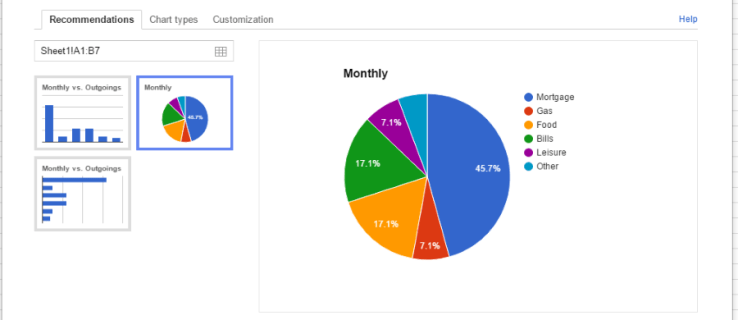 How To Add a Chart and Edit the Legend in Google Sheets