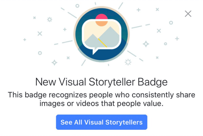 facebook badges Visual Storyteller