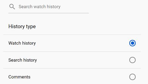 watch history