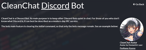 CleanChat Discord Bot