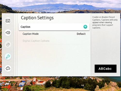 caption mode default