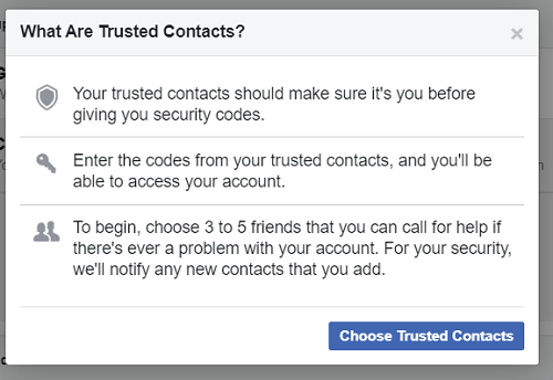 choose trusted contacts