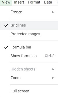 gridlines toggle