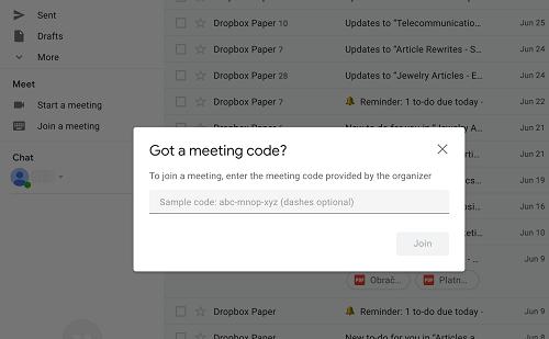 meeting code