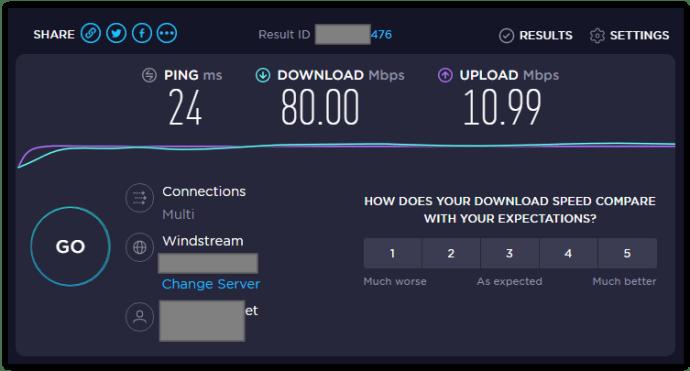 speedtest.net sample