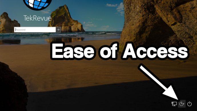 windows 10 login ease of access