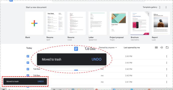 Organize Google Docs