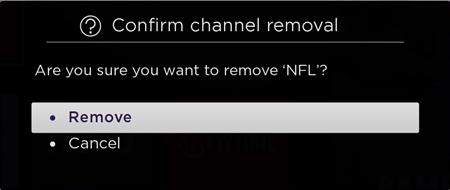 roku delete channels