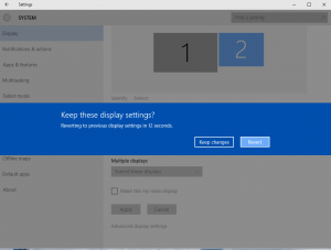 Keep these display settings