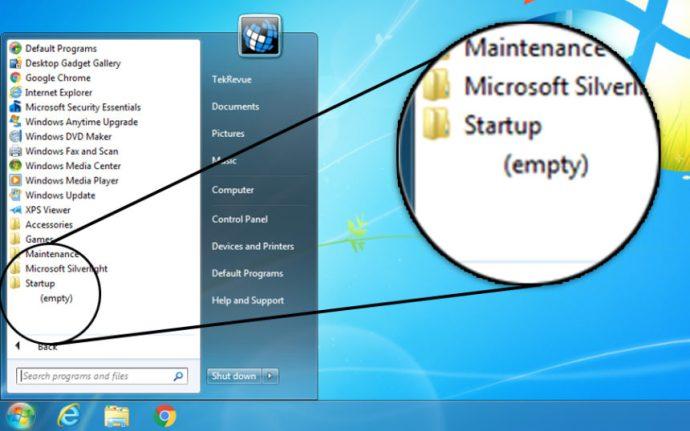 Startup Folder Windows 7