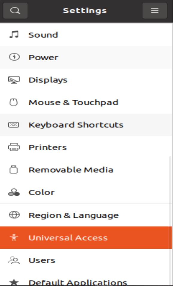 Ubuntu Settings Menu - 2