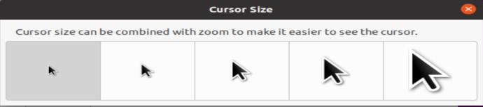 Ubuntu Cursor Sizes