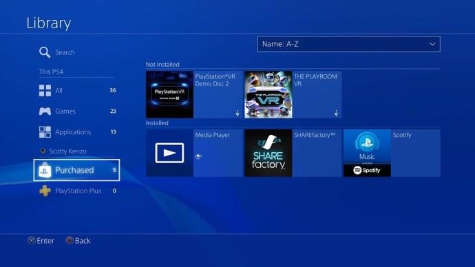 PS4 hide games
