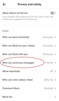 who can send you messages