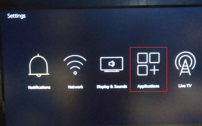 Fire TV Stick Settings menu