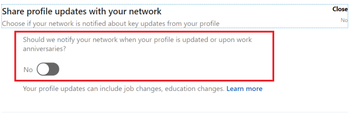 LinkedIn Visibility Menu 3