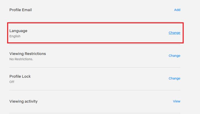 Configuración de la cuenta de Netflix