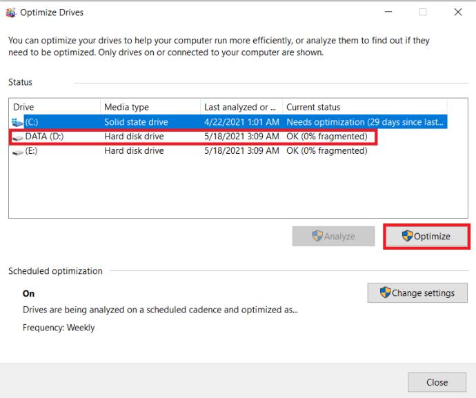 Windows Defragment Program