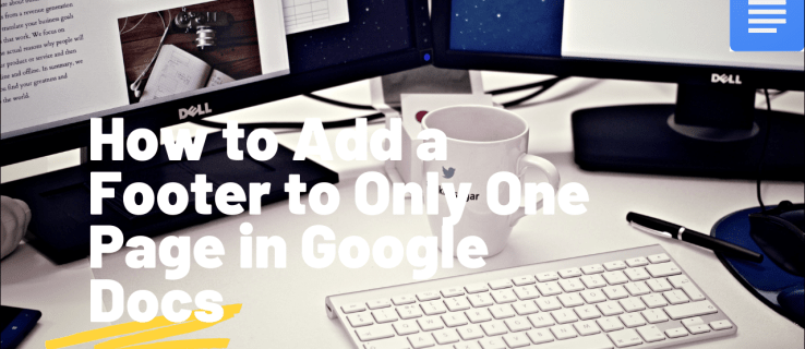 How to Add a Footer to Only One Page in Google Docs