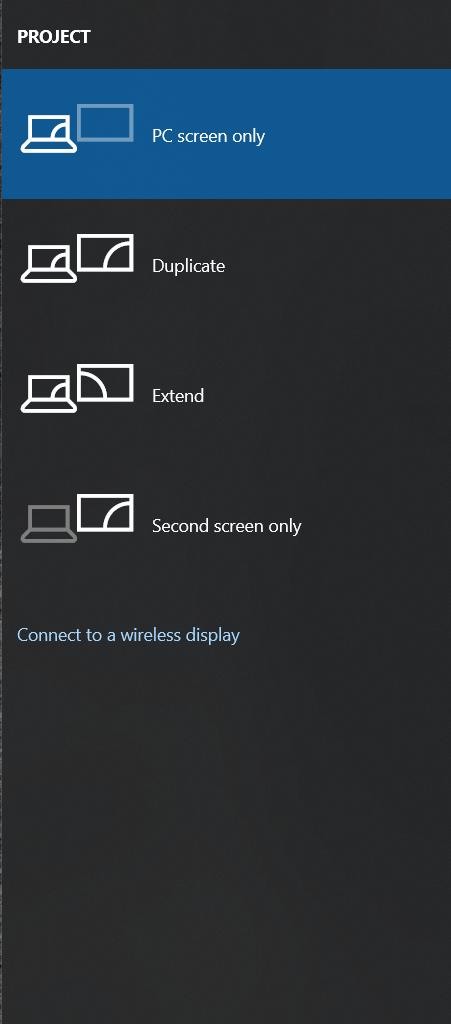 Windows Project menu