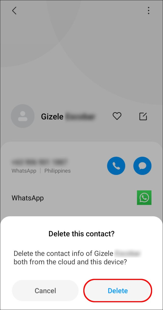 How to Delete a Contact in WhatsApp