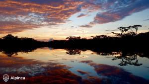 voyage-au-pérou-en-amazonie-coucher du soleil