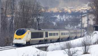 Travelling by Eurostar snow train