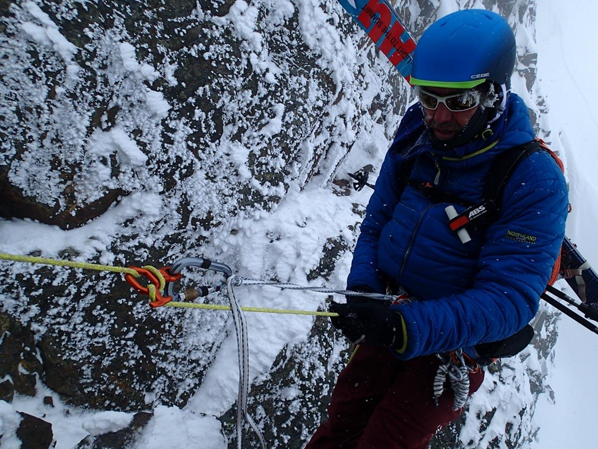 Dyneema in der Praxis, Abseilen mit Dyneema-Leine | Alpine Kompetenz