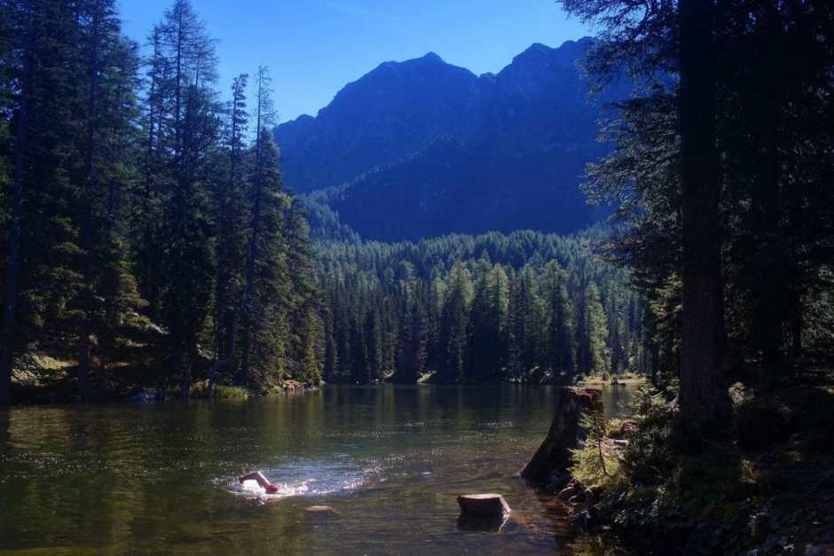 Der Tauernkarsee ist ein Wild-Swimming Paradies