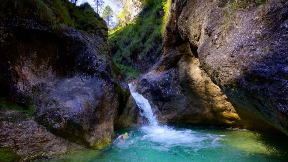 Wildswimming or Wilddipping in the Almbachklamm? A borderline case not only geographically ...