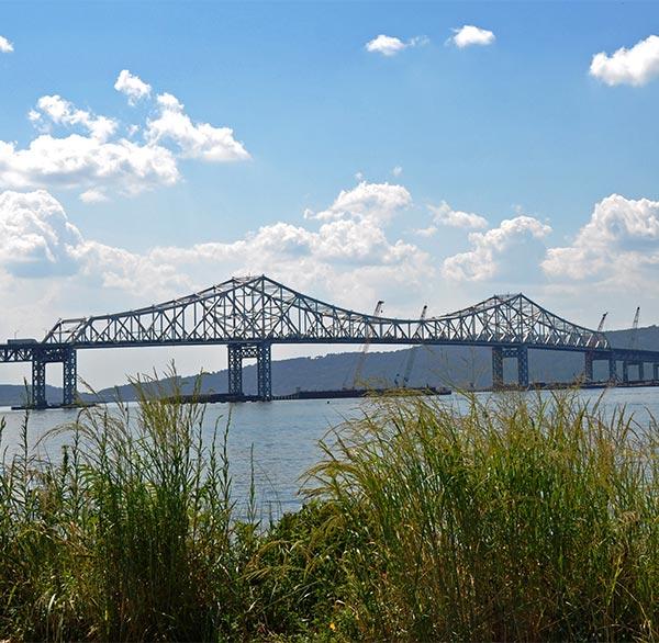 Westchester CO, NY bridge and skyline