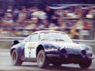 The Alpine-Renault en-route to a win at Valkenswaard in Holland in August 1977 with Piet Kruythof.