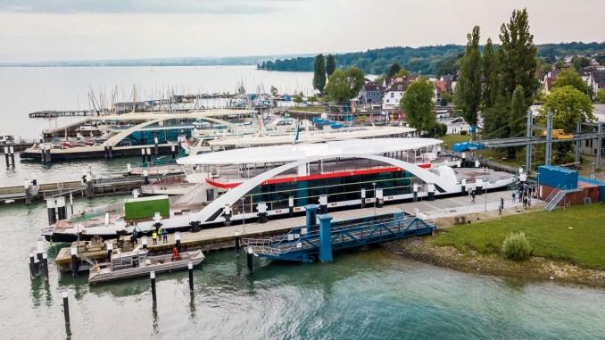 Faehrschiff 14 - so der Deckname für die zukünftige Autofähre der Stadtwerke Konstanz
