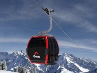 Rot sind die meisten der neuen Gondeln der Golmerbahn im Montafon. Bild: Golm Silvretta Lünersee Touristik GmbH