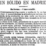 El bólido de Madrid (10 de febrero de 1896)