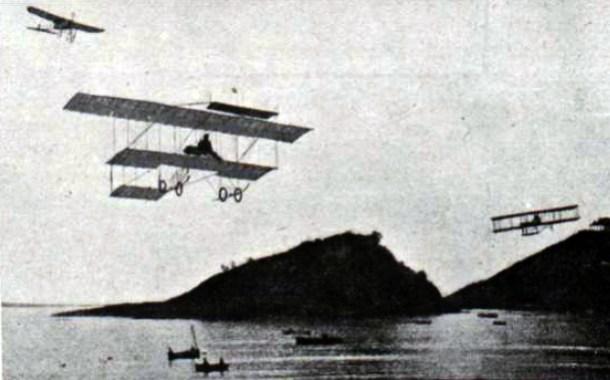 Experiencias de vuelo en San Sebastián, 1910.