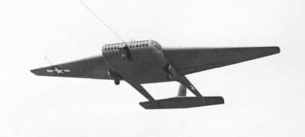 Prototipo de planeador de transporte militar de la Segunda Guerra Mundial que no llegó muy lejos. (USAF).