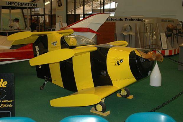 El minúsculo abejorro es uno de los aviones más pequeños del mundo. (Afcrna - CC-By-SA).