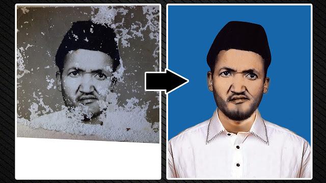 How to Repair Damaged Photo   Old Photo Restoration in Photoshop   Al Qadeer Studio