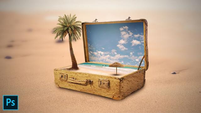 Suitcase Photo Manipulation in Photoshop | Al Qadeer Studio  Suitcase - Fantasy Photo Manipulation Tutorial | Photoshop Tutorial